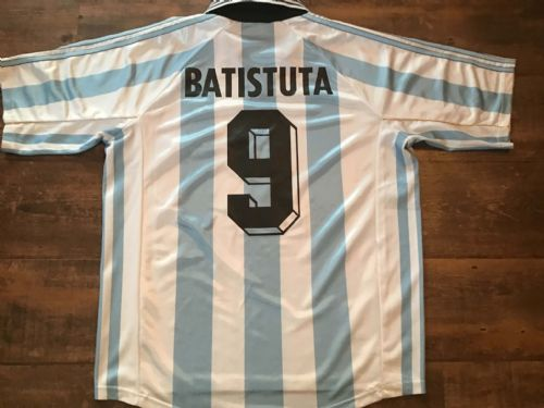 1998 Argentina Batistuta World Cup Football Shirt Large